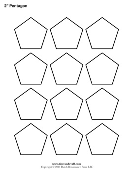 5 Images of Pentagon Shape Template Printable