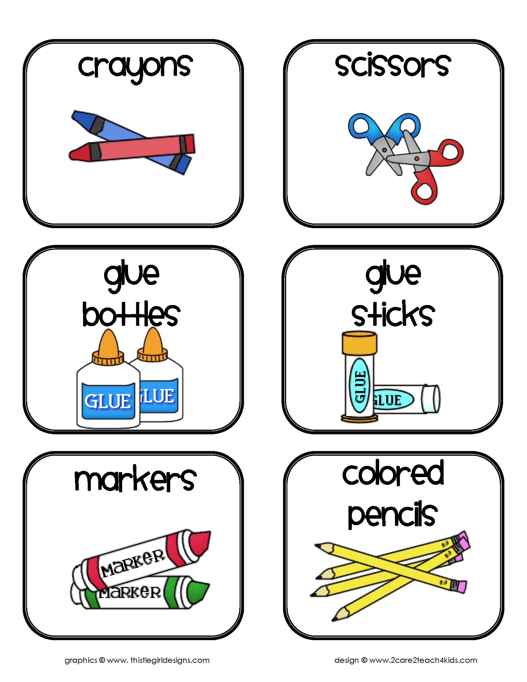 5 best images of printable preschool center labels