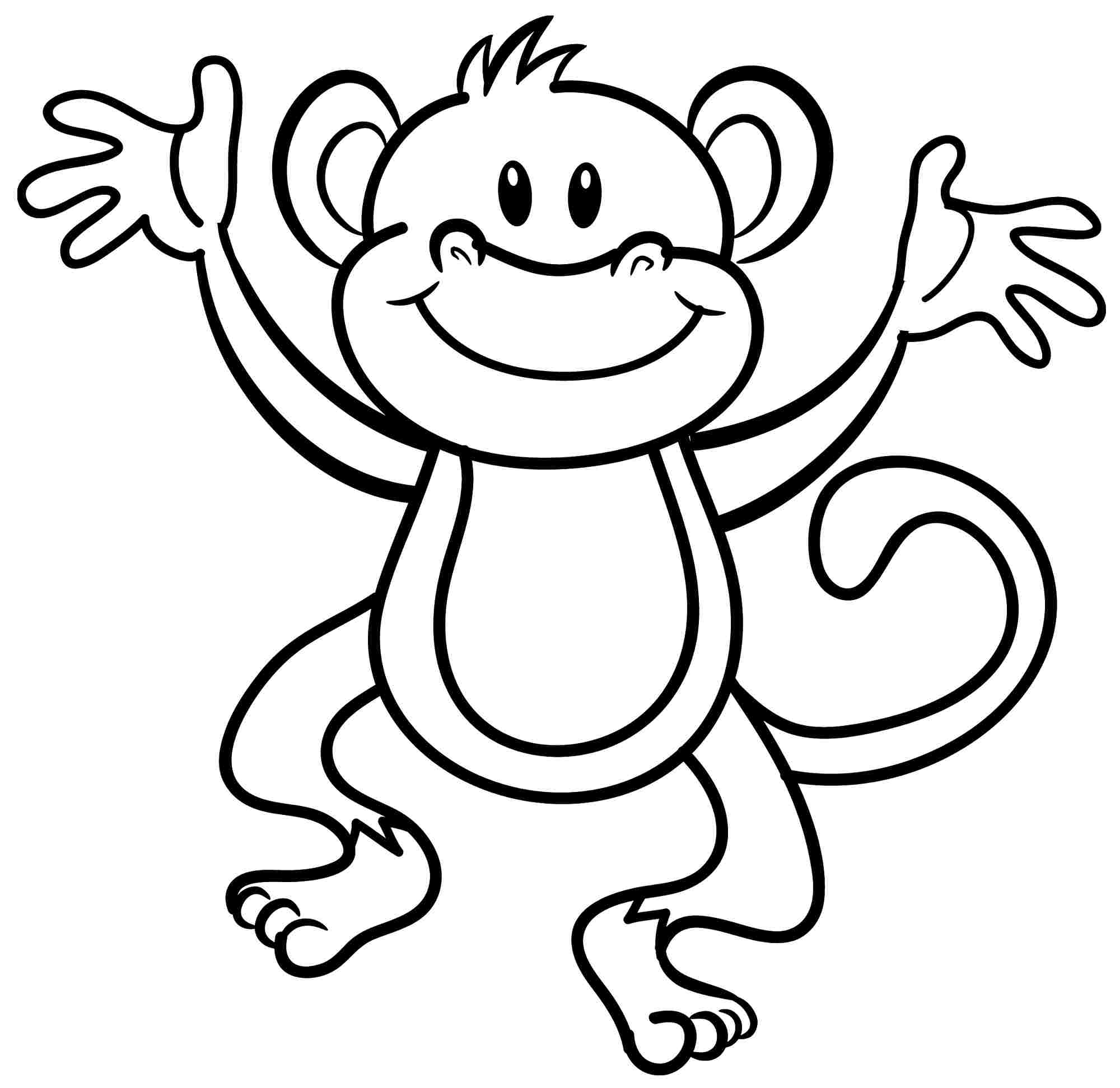 7 best images of printable animal pictures for for Animal coloring pages preschool