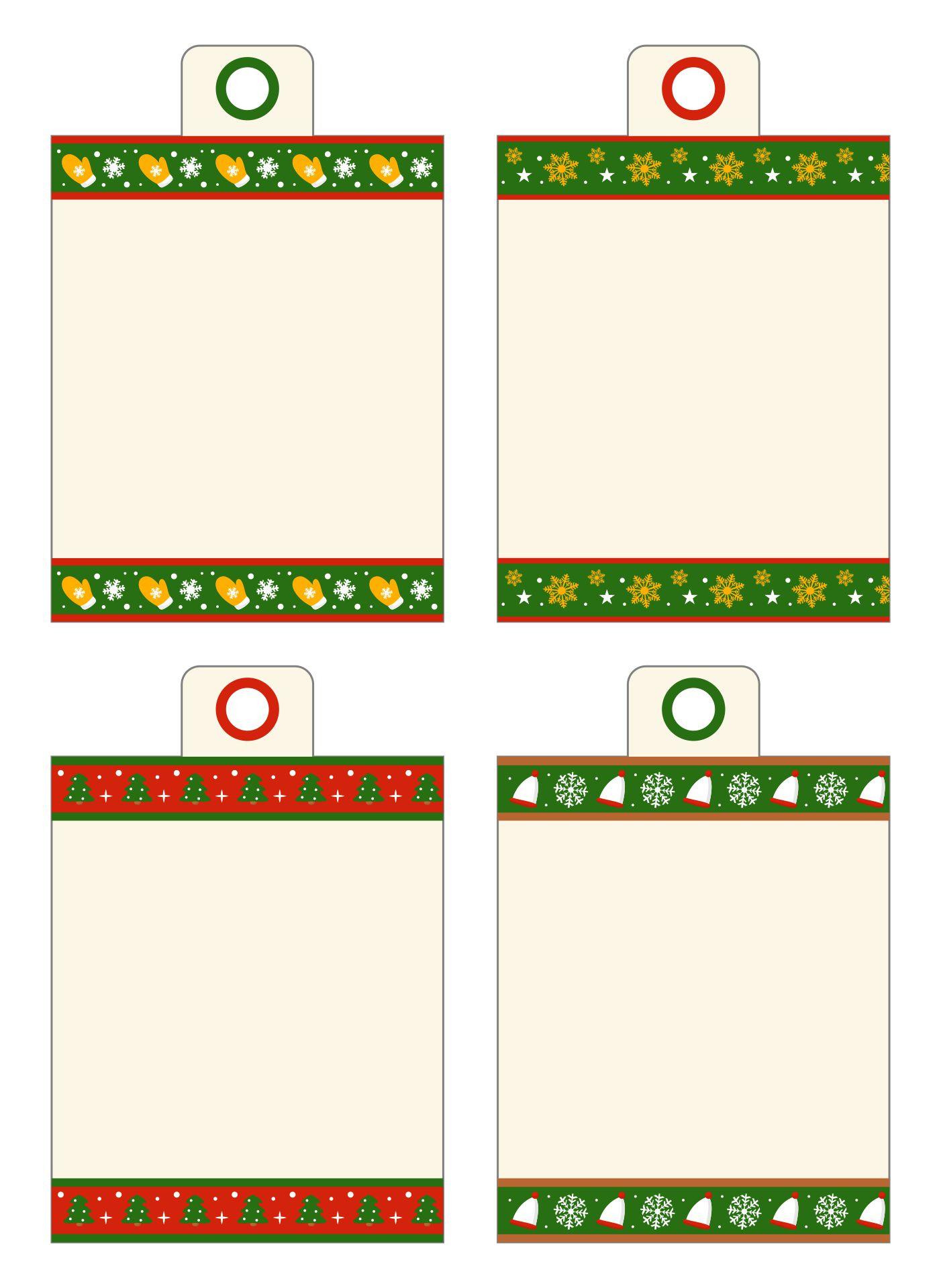 Printable Blank Christmas Gift Tags