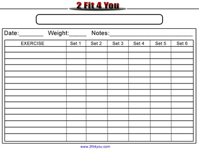 7 best images of blank workout log printable blank weekly workout schedule template blank. Black Bedroom Furniture Sets. Home Design Ideas
