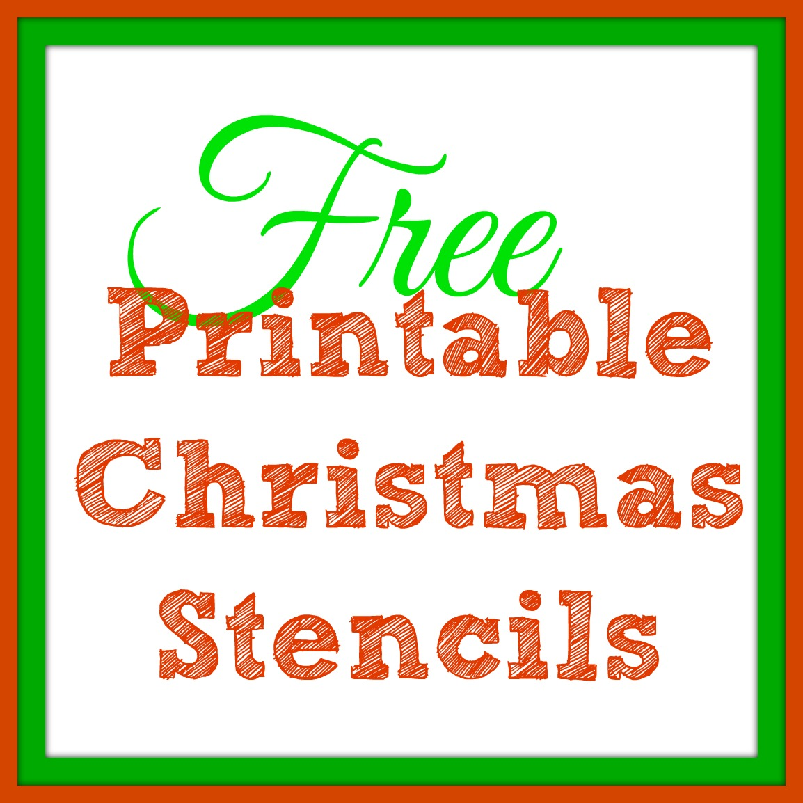 Printable Christmas Stencil Templates