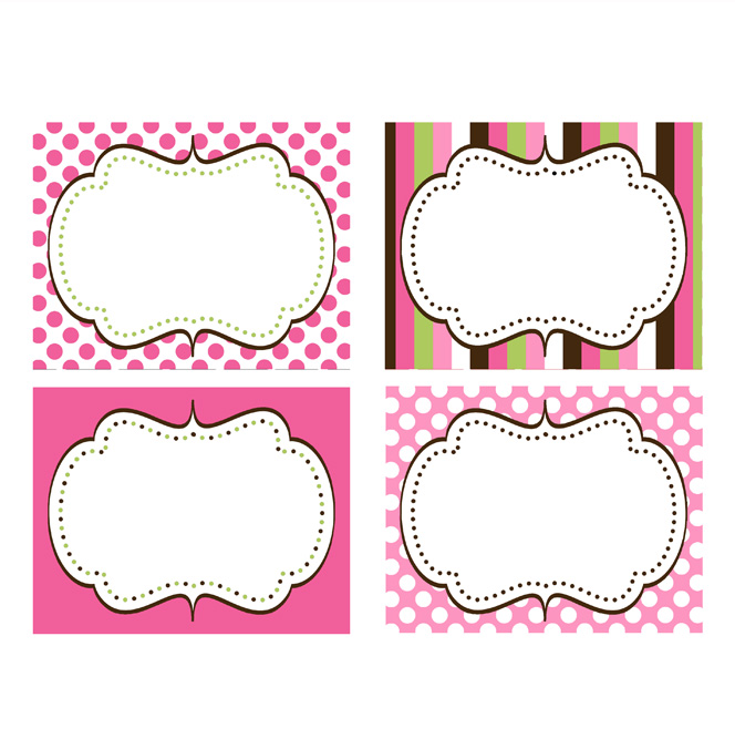 Printable Cupcake Labels