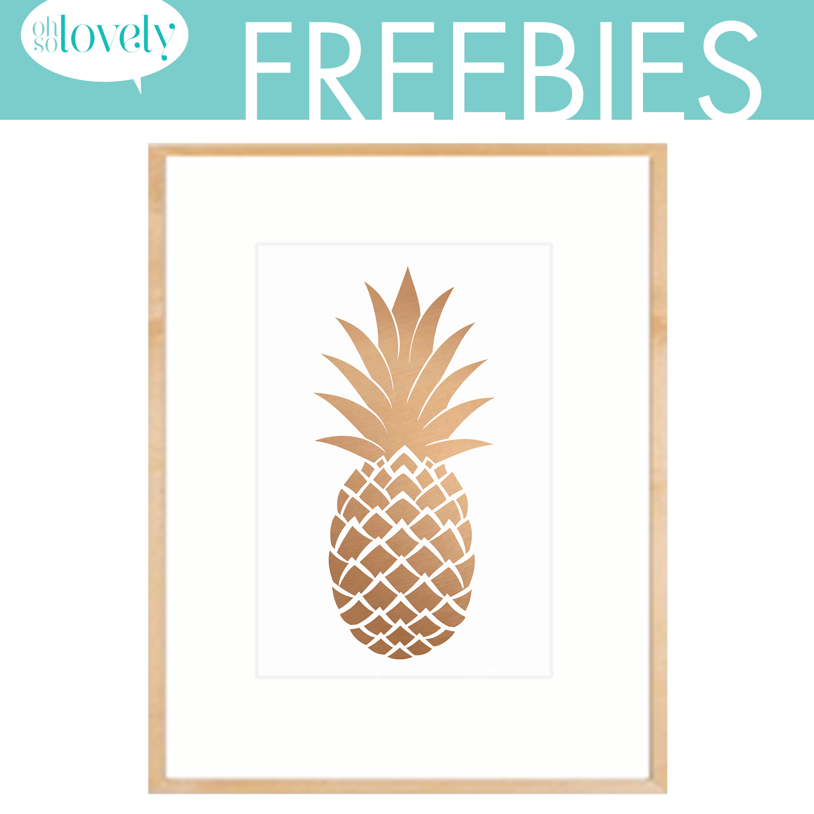7 Images of Free Pineapple Printables