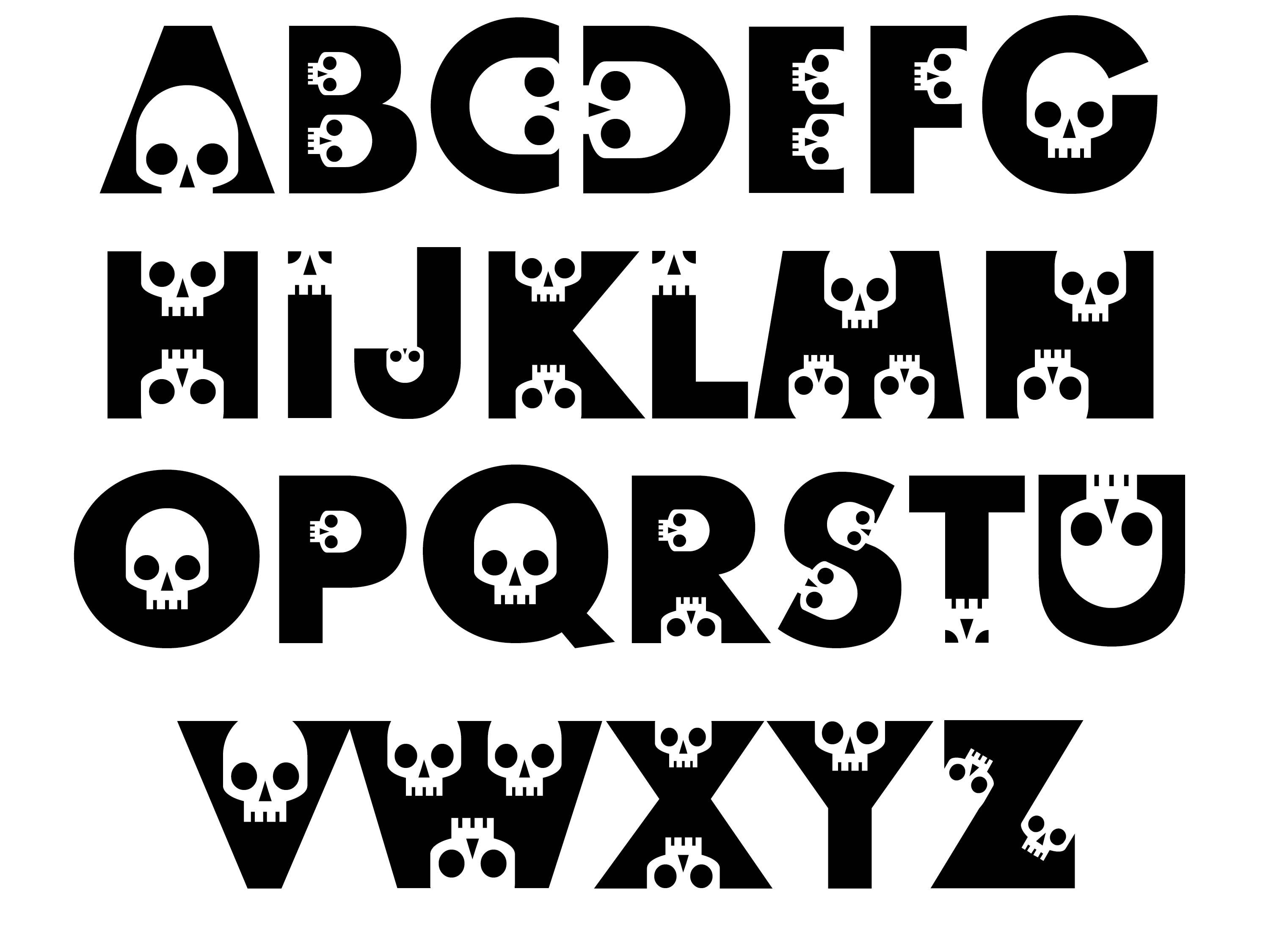 Printable Halloween Alphabet Letters