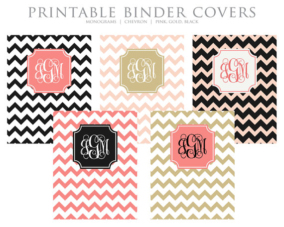 6 Images of Gold Binder Cover Printable