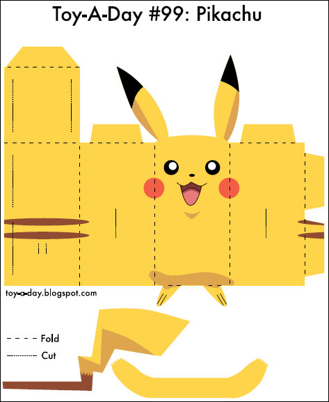 6 Images of 3D Printable Pokemon Paper Crafts
