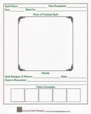 5 Images of Free Printable Quilt Journal Pages