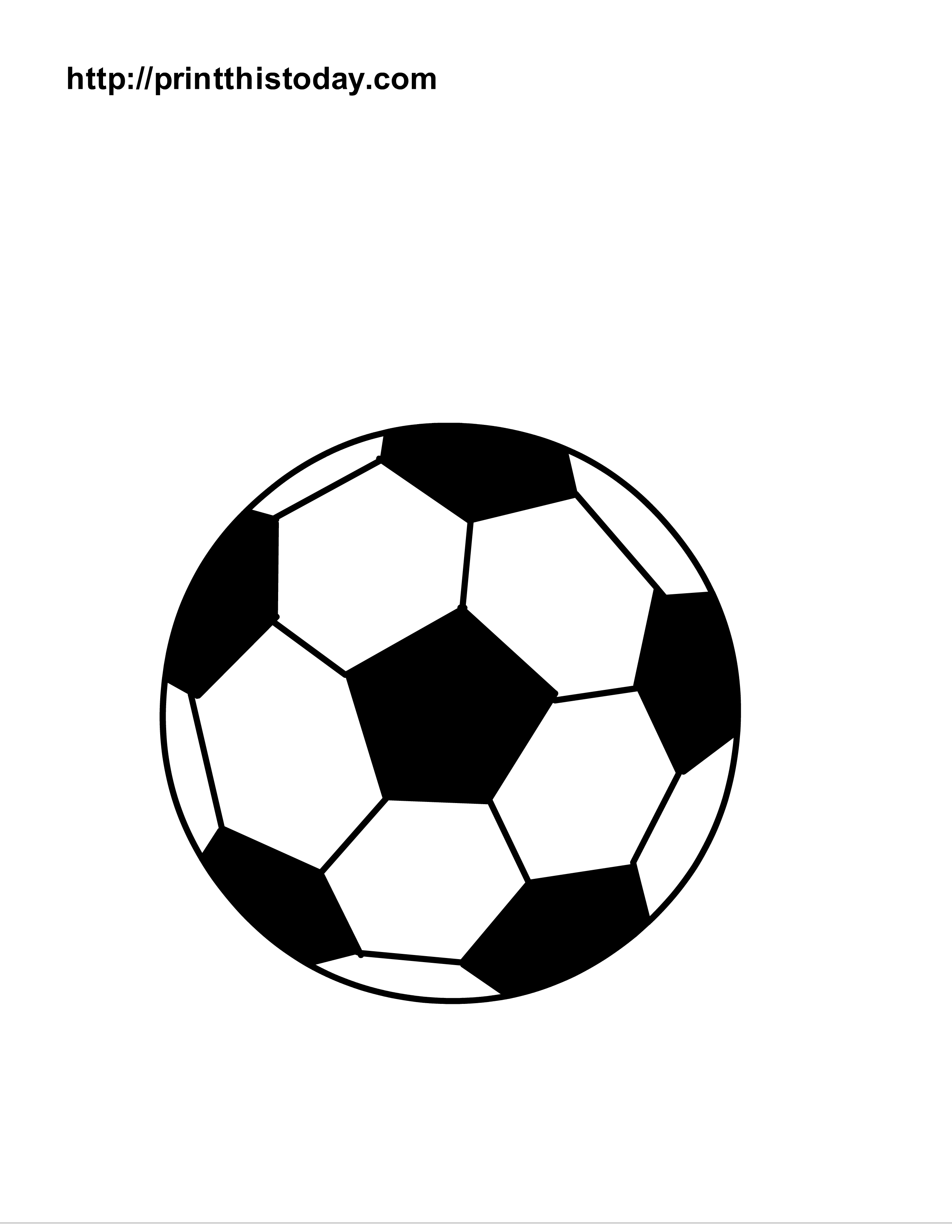 6 Images of Soccer Ball Coloring Pages Printable