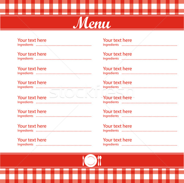 Restaurant menu template free download for Free printable menu templates for kids