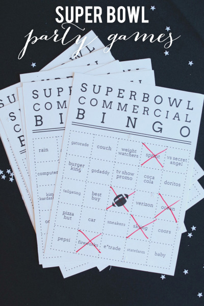 5 Images of Printable Super Bowl Party Games