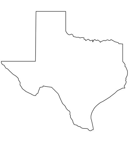 Texas Shape Printable