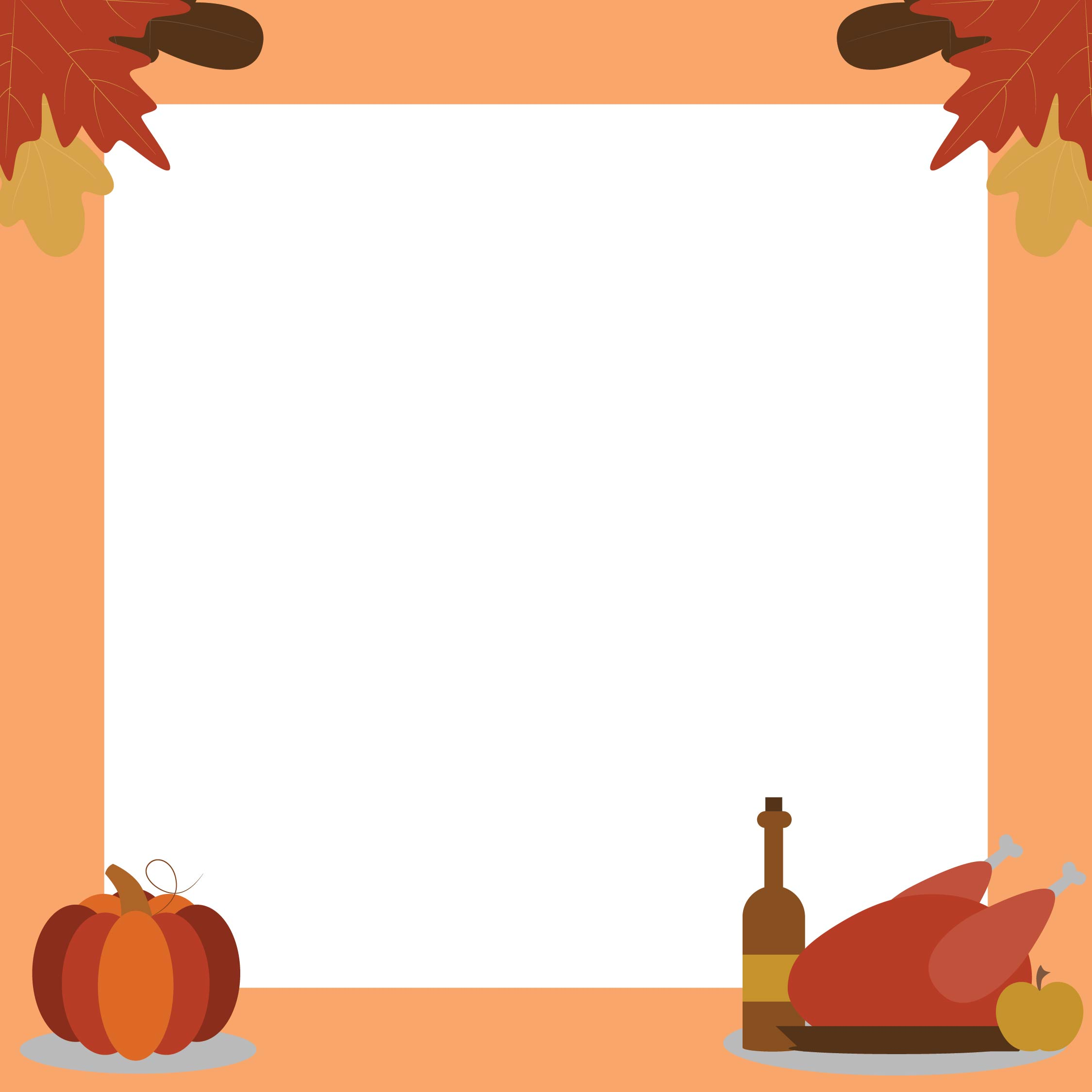 7 Images of Thanksgiving Border Clip Art Printable