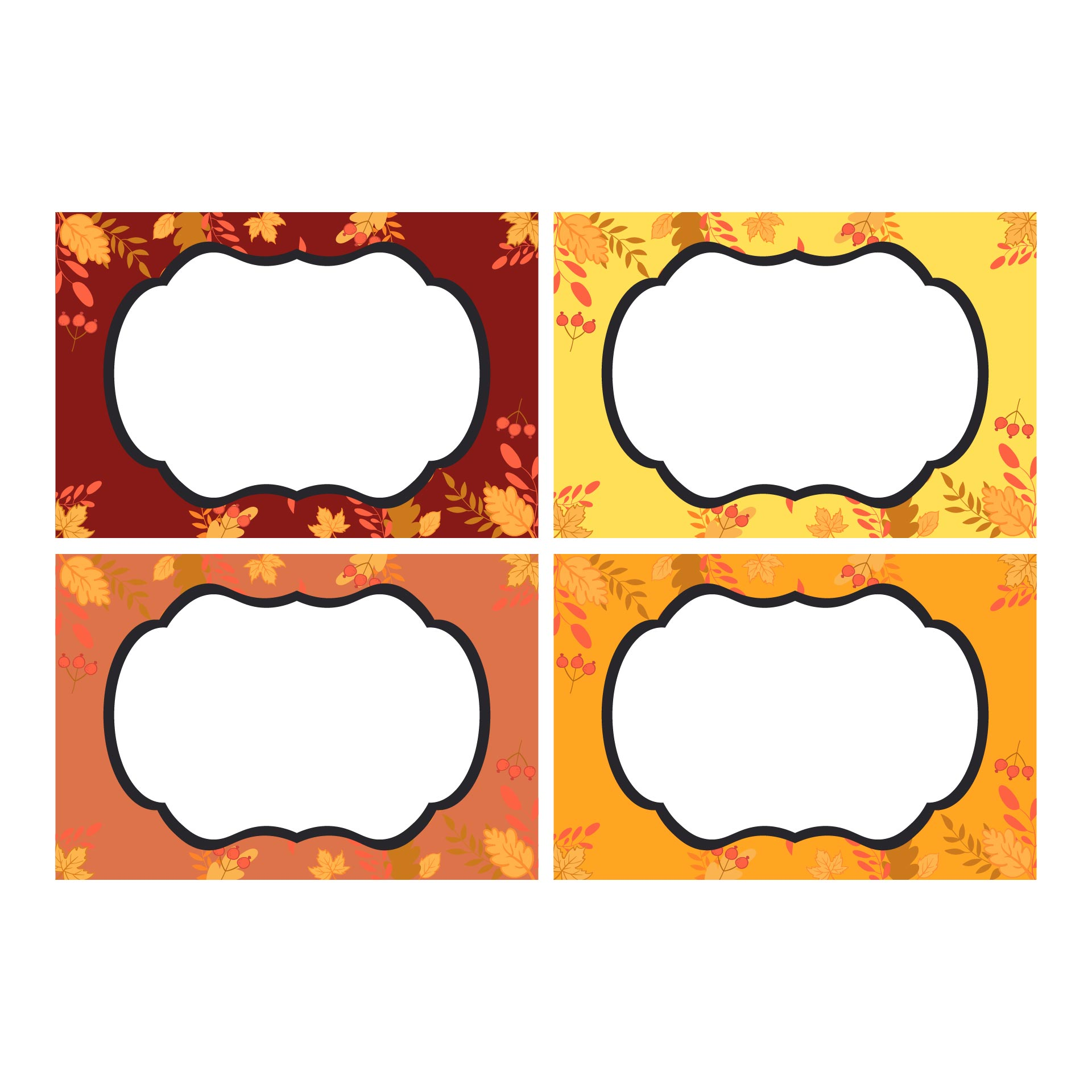 7 Images of Printable Blank Templates For Thanksgiving