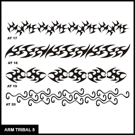 7 Images of Printable Tribal Stencils Black Background