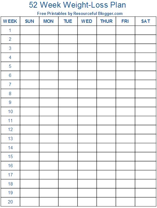 Weight Loss Chart Weekly