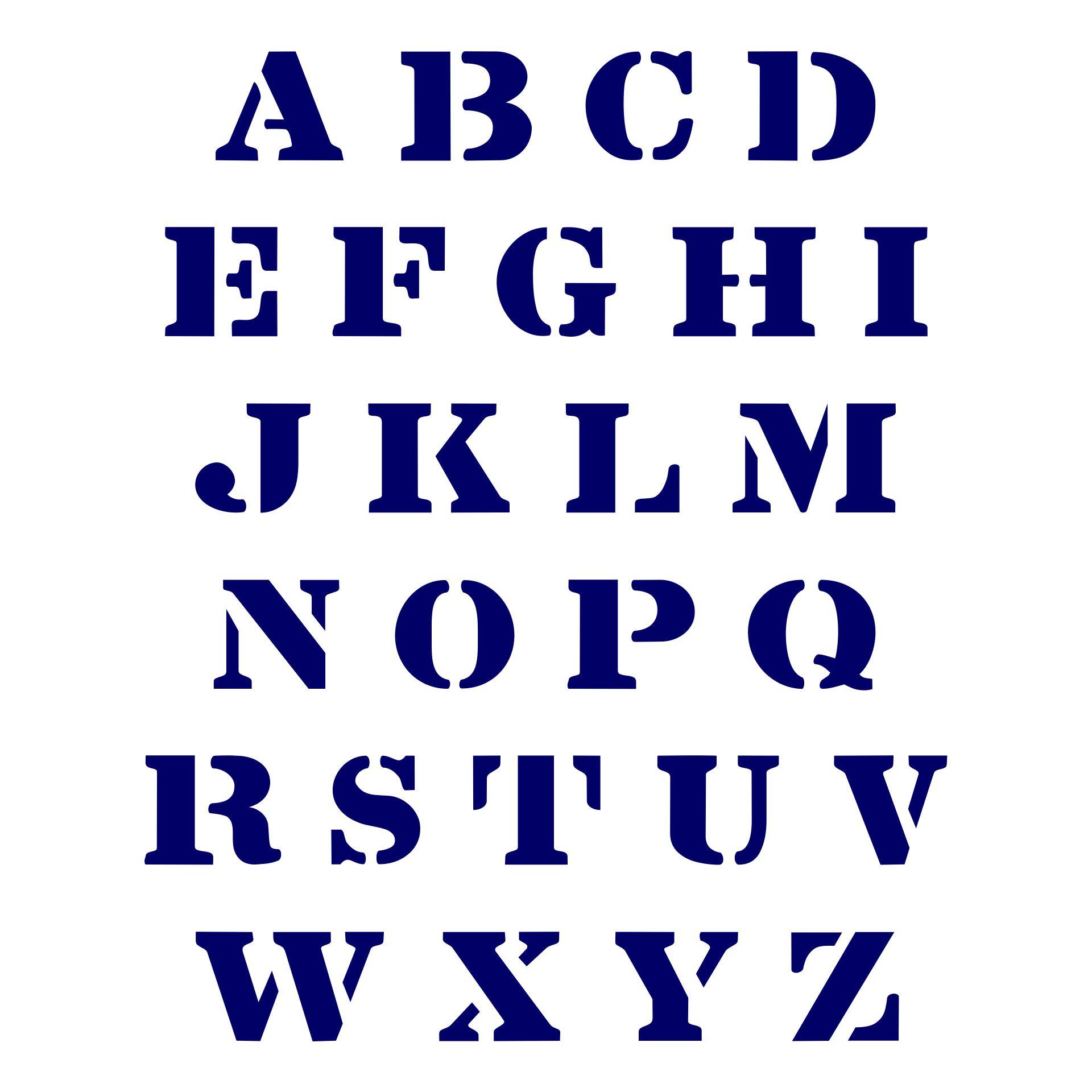 2 Inch Letter Stencils Printable Alphabet