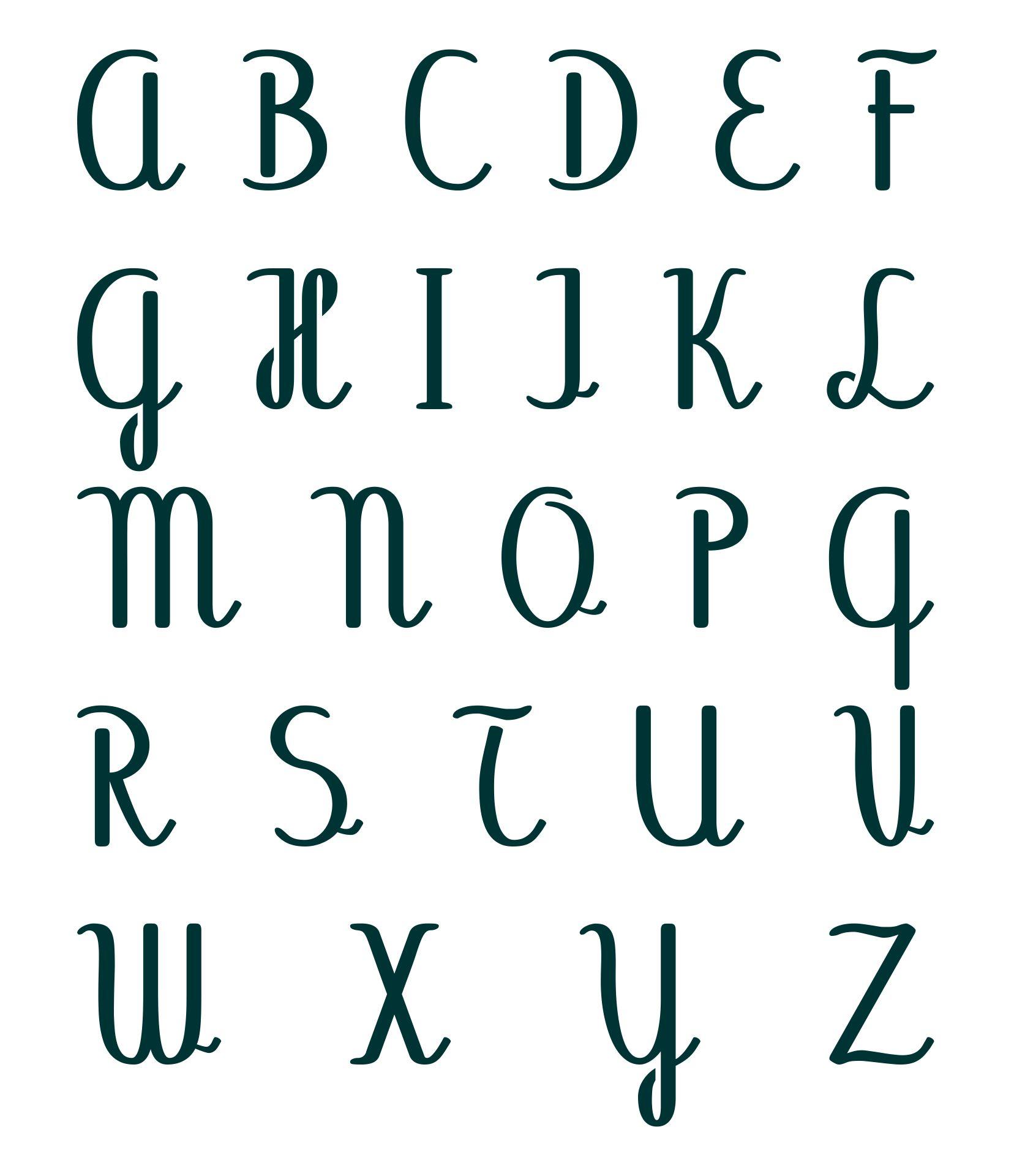 3 Inch Letter Stencils Printable Alphabet