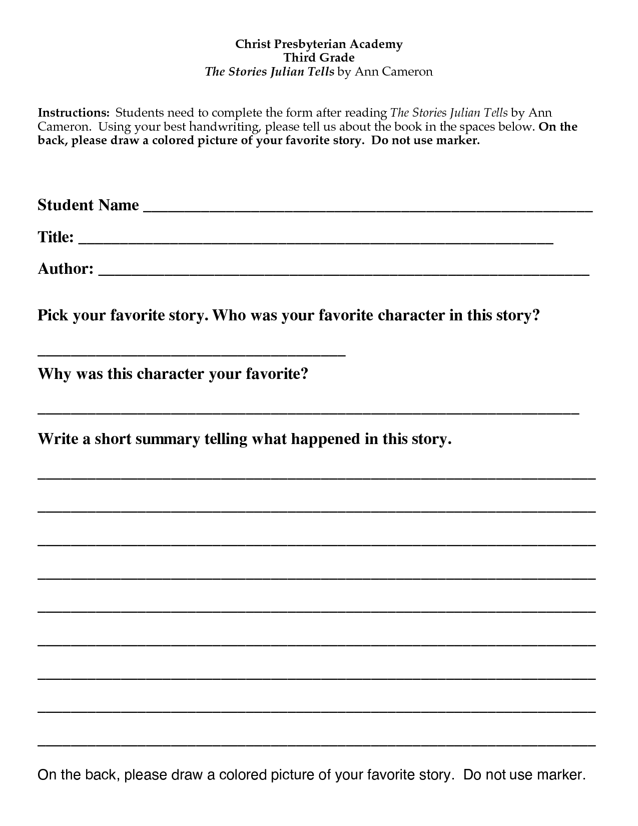 first grade book report form psychology report example introduction writing papers in apa format 6th edition