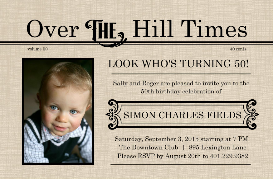 6 Images of Over 50th Birthday Party Invitations Printable