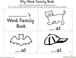6 Images of My Word Family Printable Book
