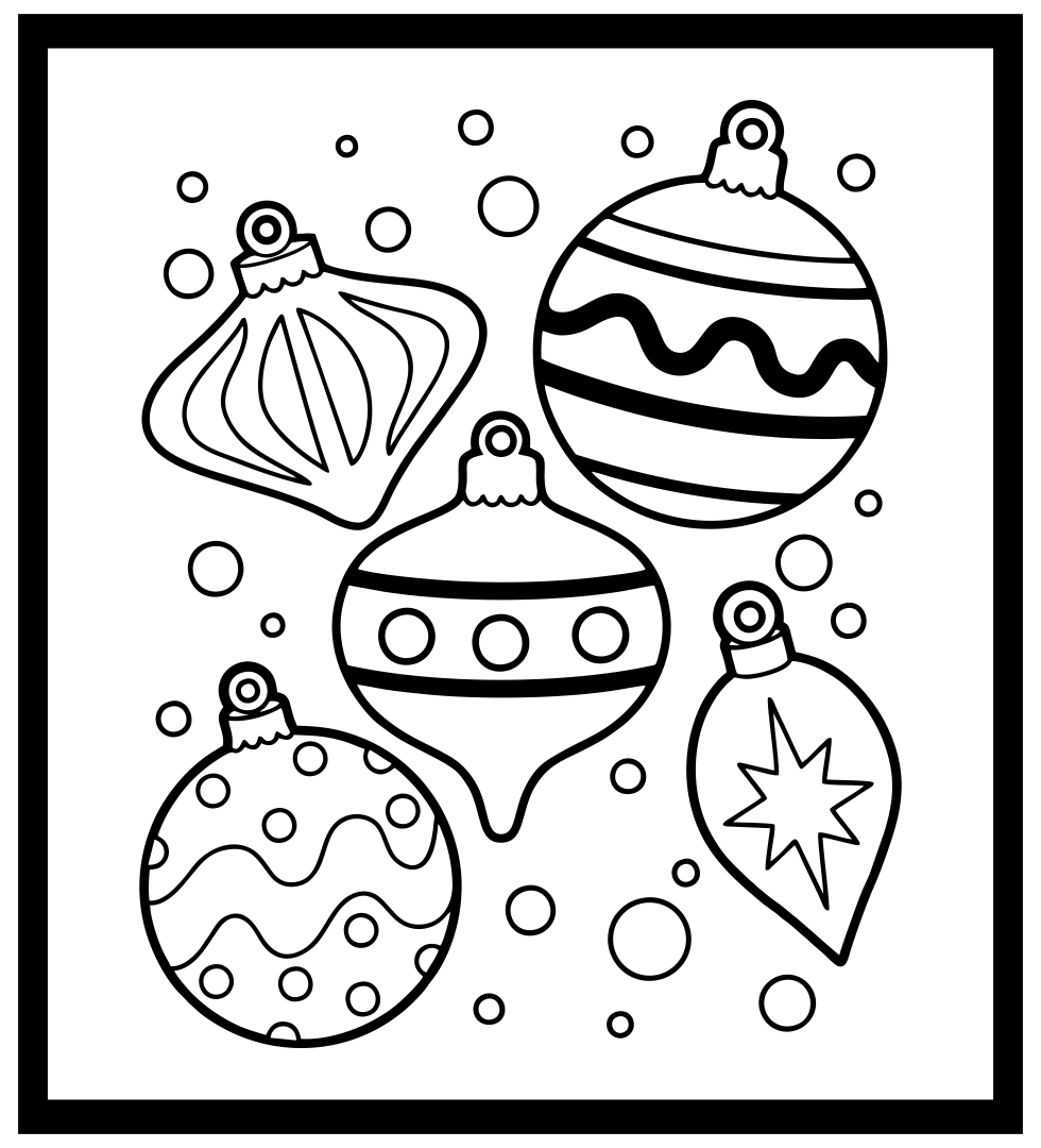 Black and White Christmas Printables