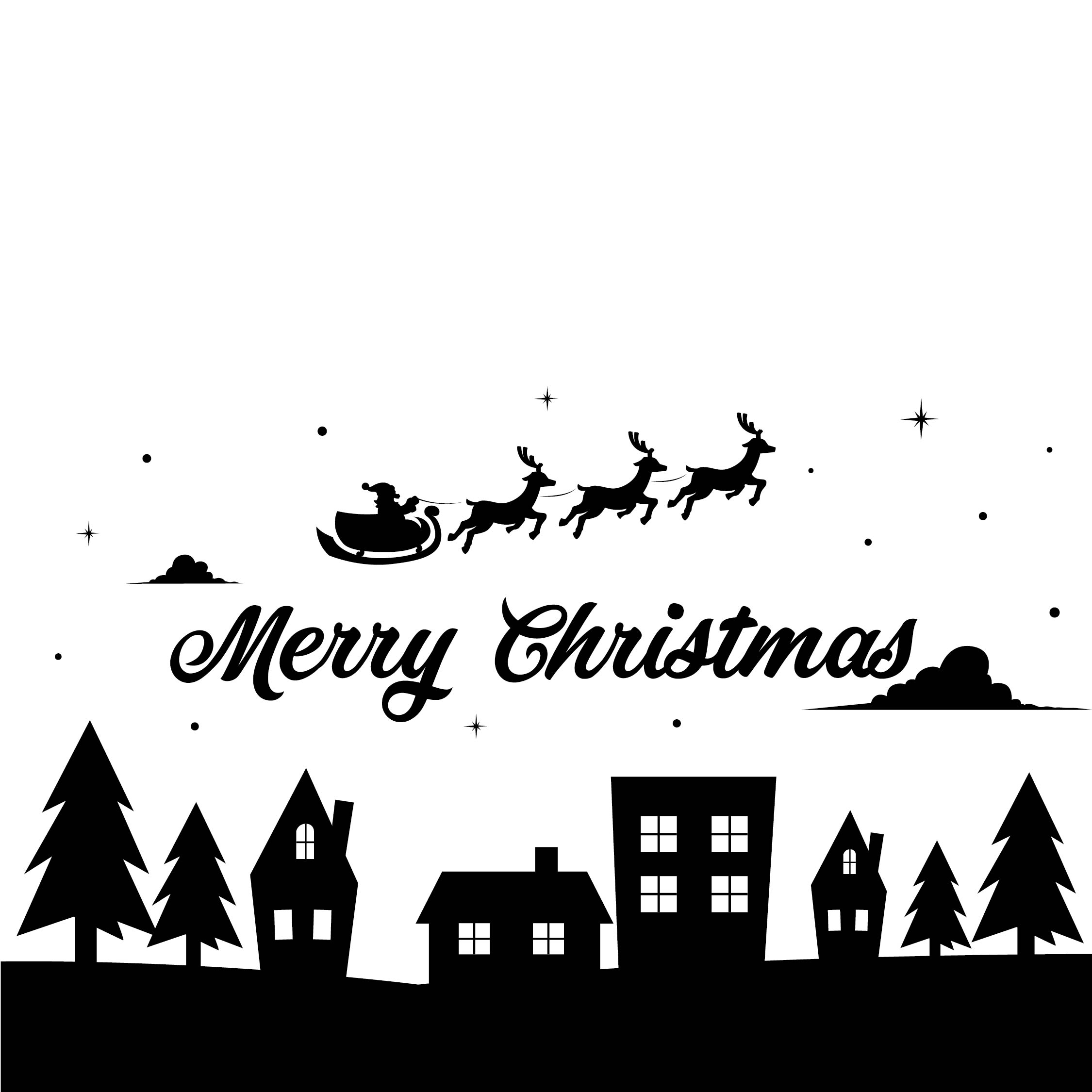 8 Images of Printable Christmas Cards Black And White