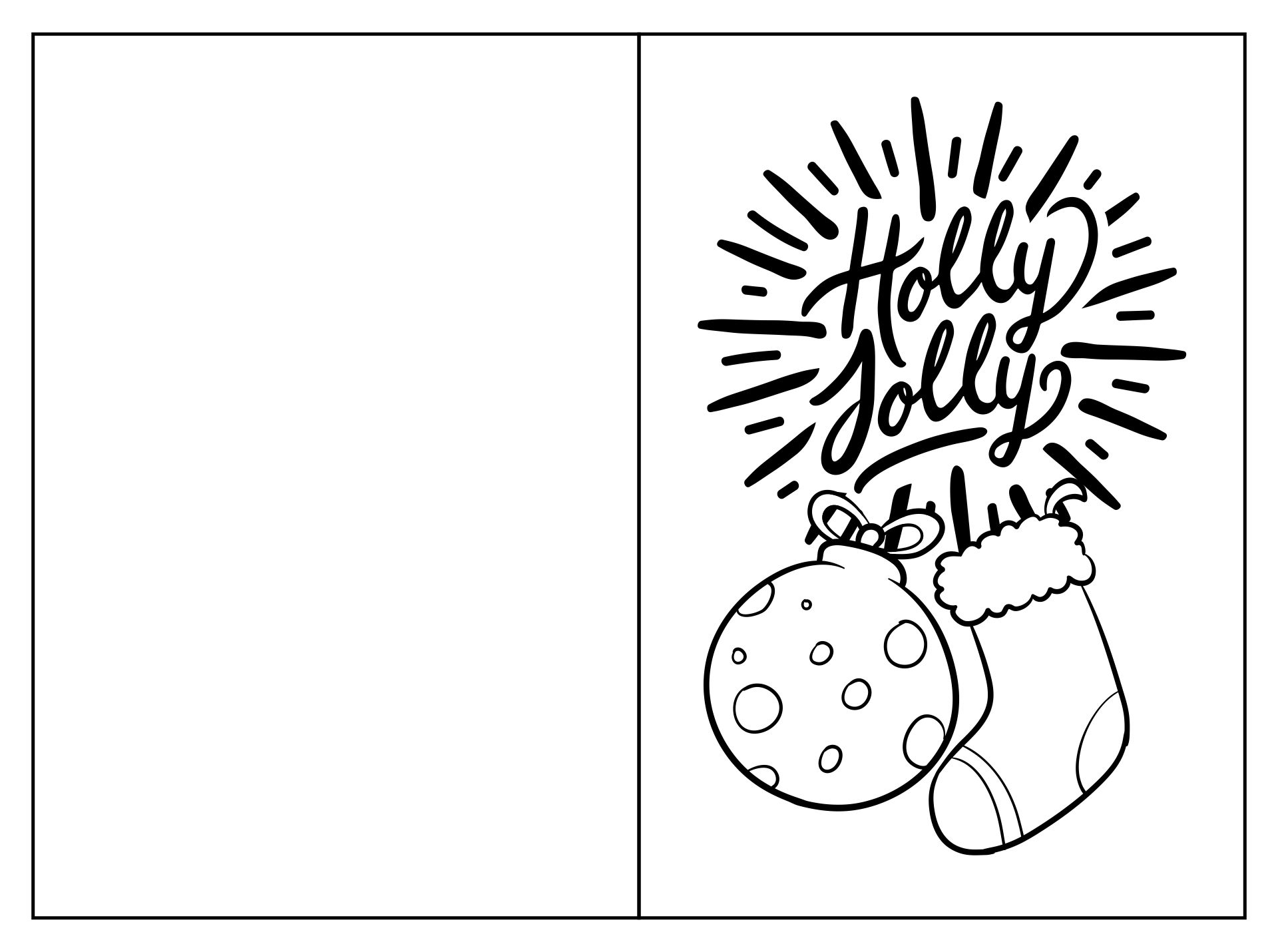 Black and White Printable Christmas Cards