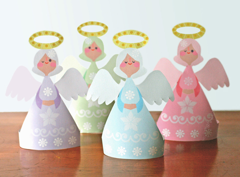 7 best images of angels free printable paper crafts for Craft angels to make