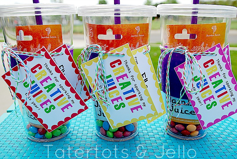 4 Images of Teacher Appreciation Juice Printable Tags