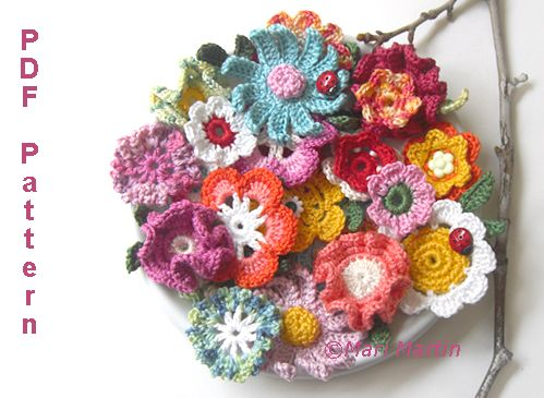 7 Images of Crochet Flower Patterns Printable