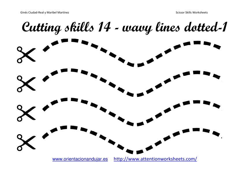 Cutting Practice Worksheets : Cutting worksheets for preschoolers fine motor skills