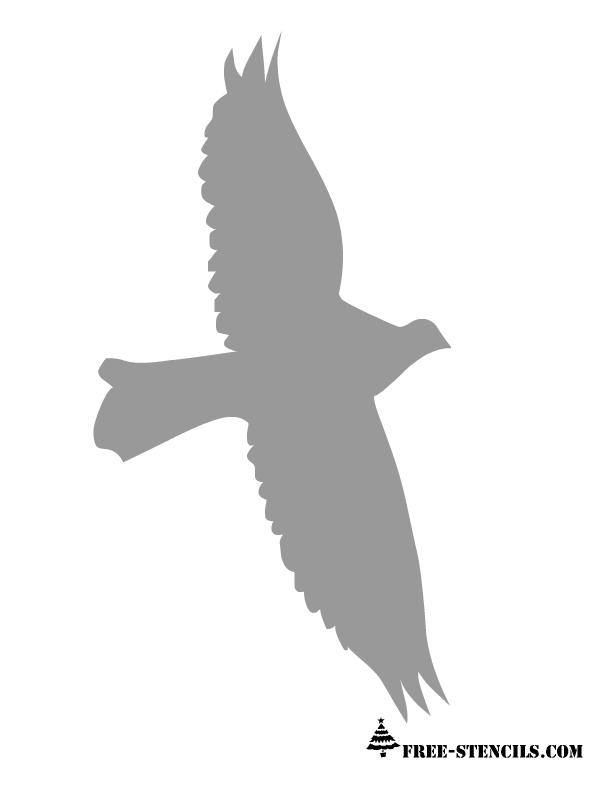 Flying Bird Stencil Printable