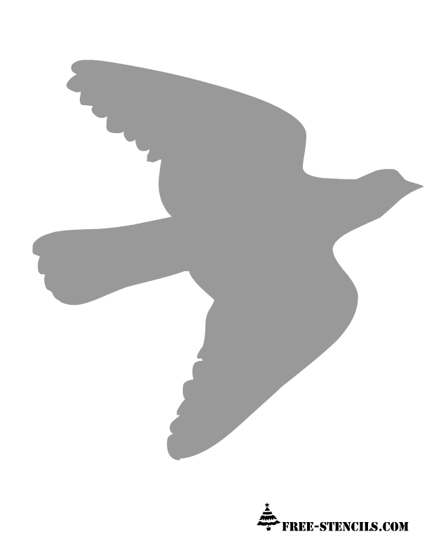 Flying Bird Stencils Printable