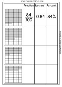 math worksheet : fraction decimal and percent worksheet 7th grade  worksheets on  : Convert Fraction To Decimal To Percent Worksheet