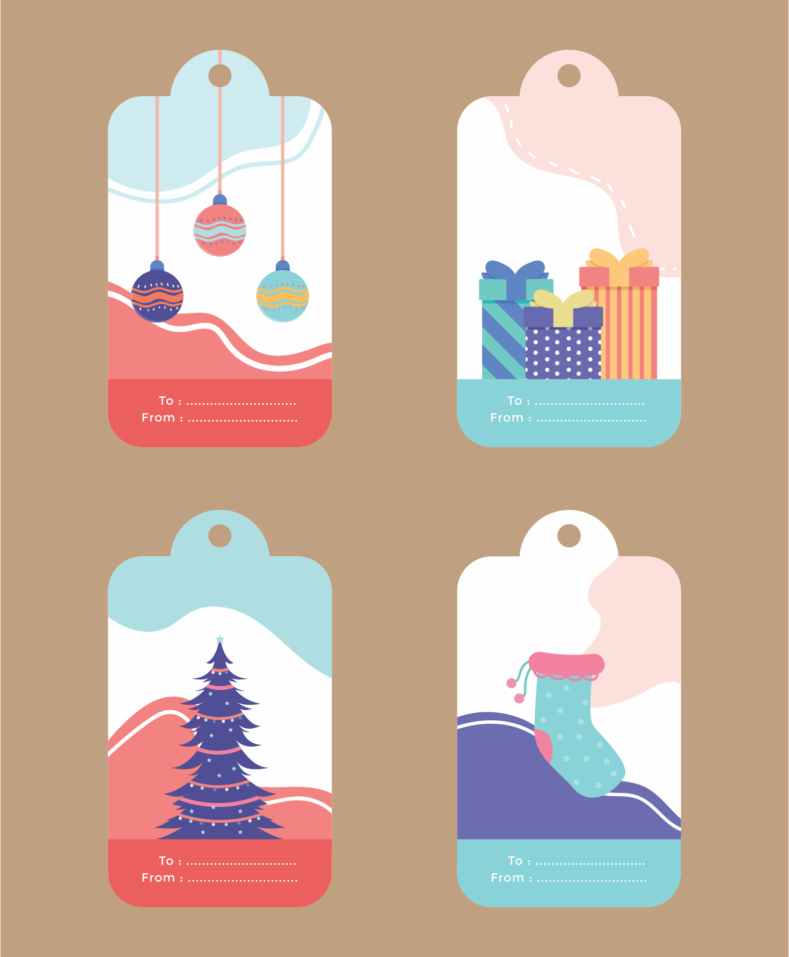 Christmas Labels Templates