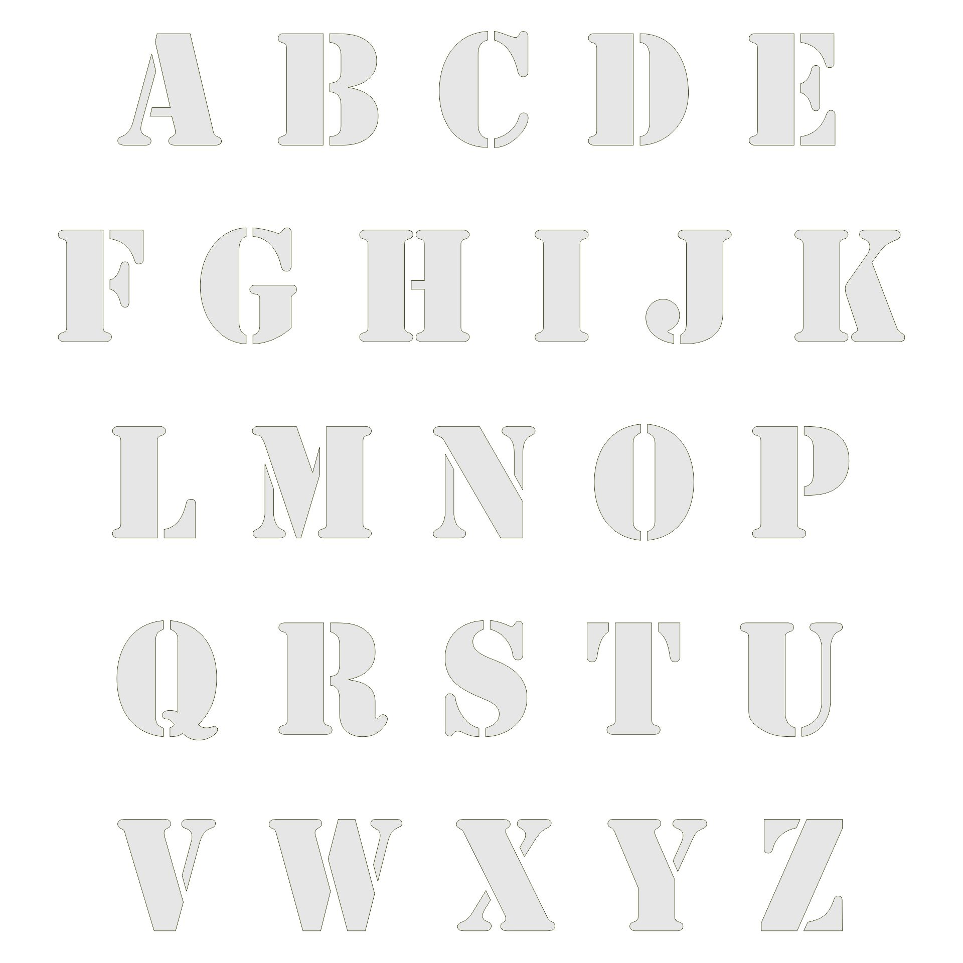 7 best images of big printable cut out letters print cut for Free printable alphabet templates
