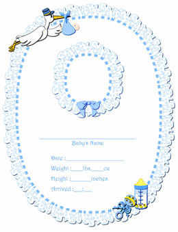 free printable baby book templates - 5 best images of printable personalized baby birth