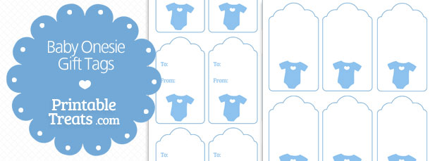5 Images of Baby Gift Tags Free Printable