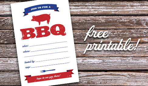 9 Images of BBQ Printable Template