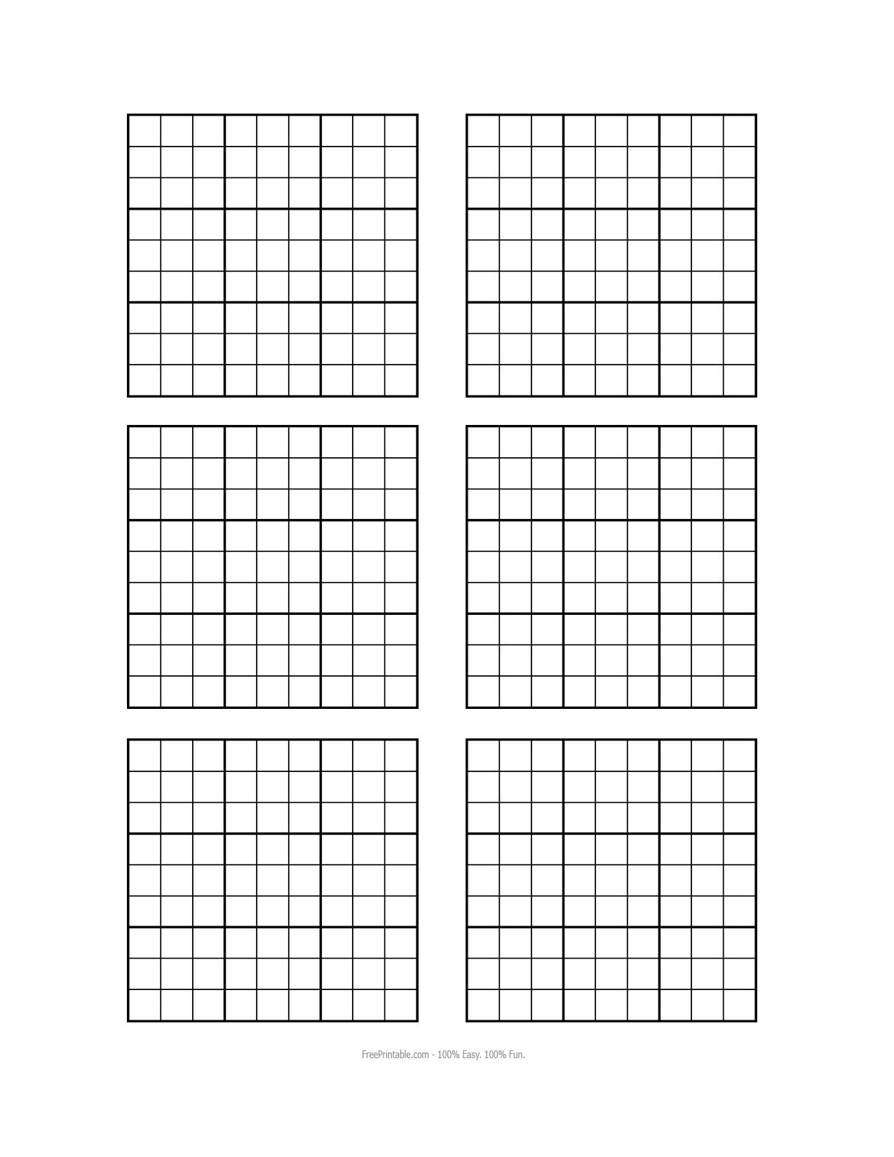 Blank Sudoku Worksheet - Khayav