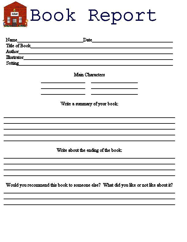 writing book reports for 3rd graders