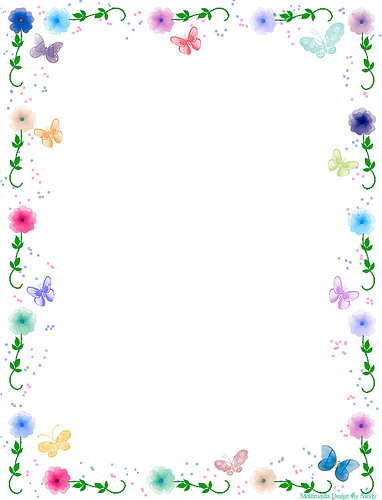 4 Images of Free Vintage Printable Butterfly Borders