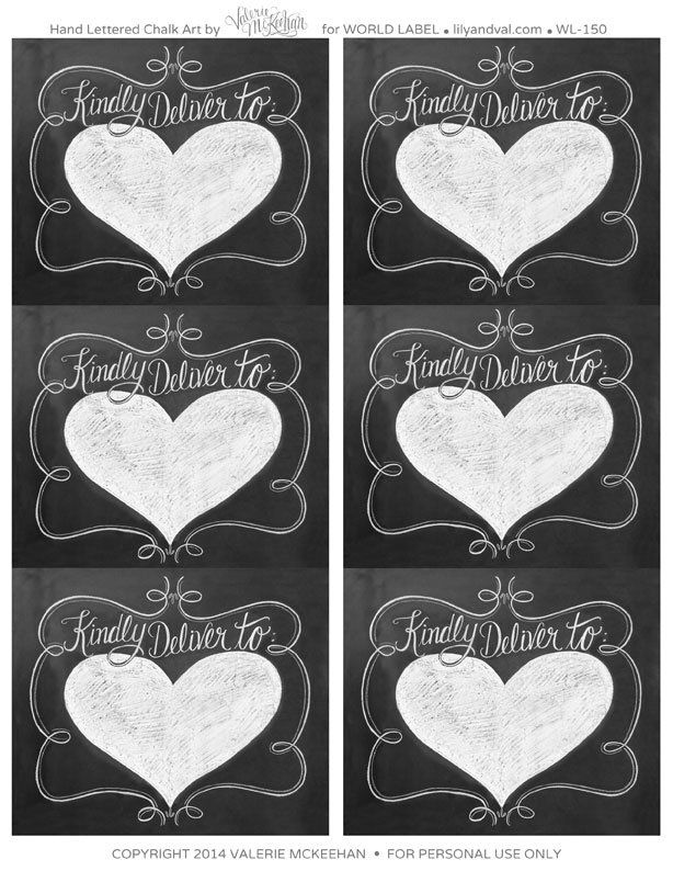 Free Printable Chalkboard Label Template