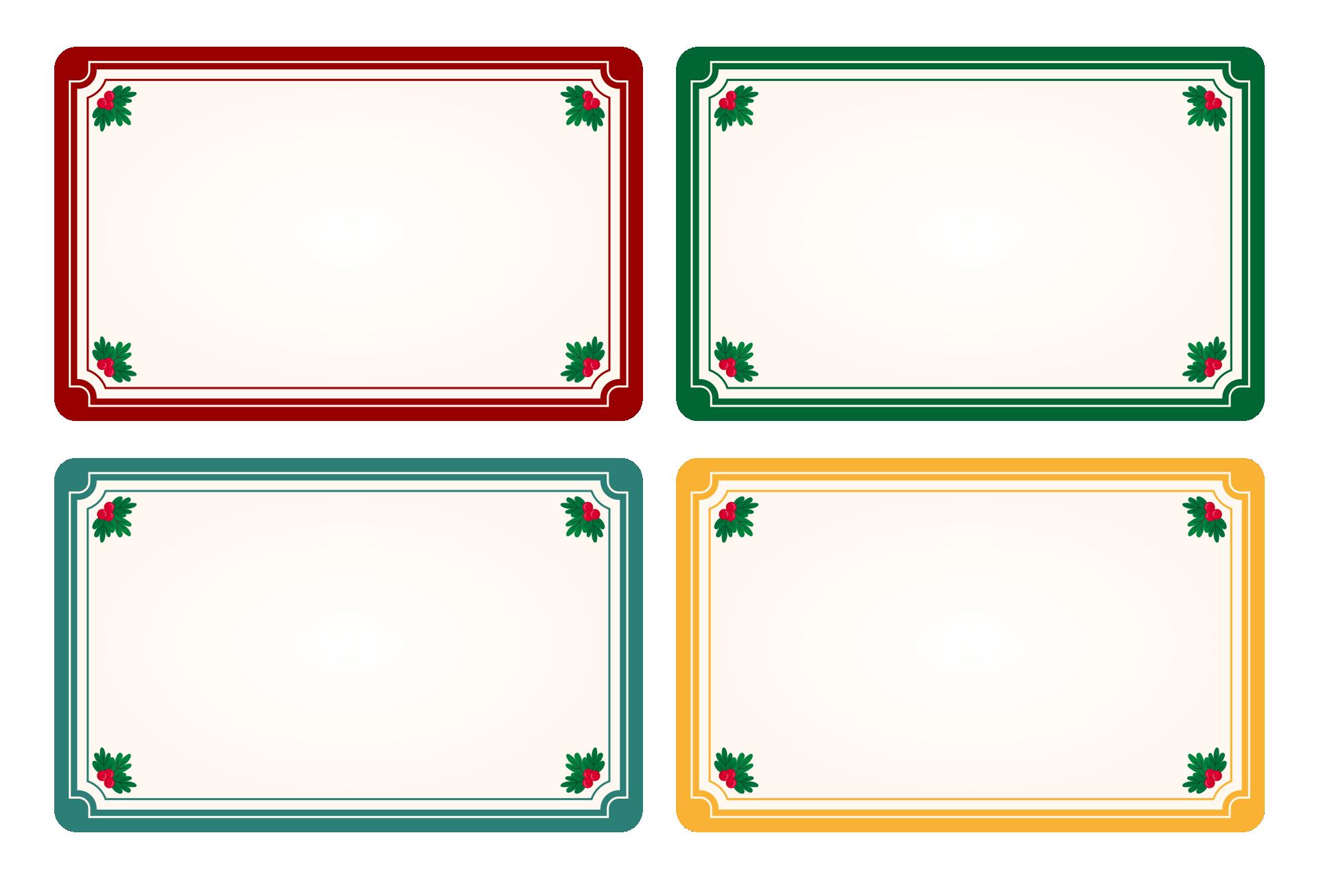 Printable Christmas Labels Templates