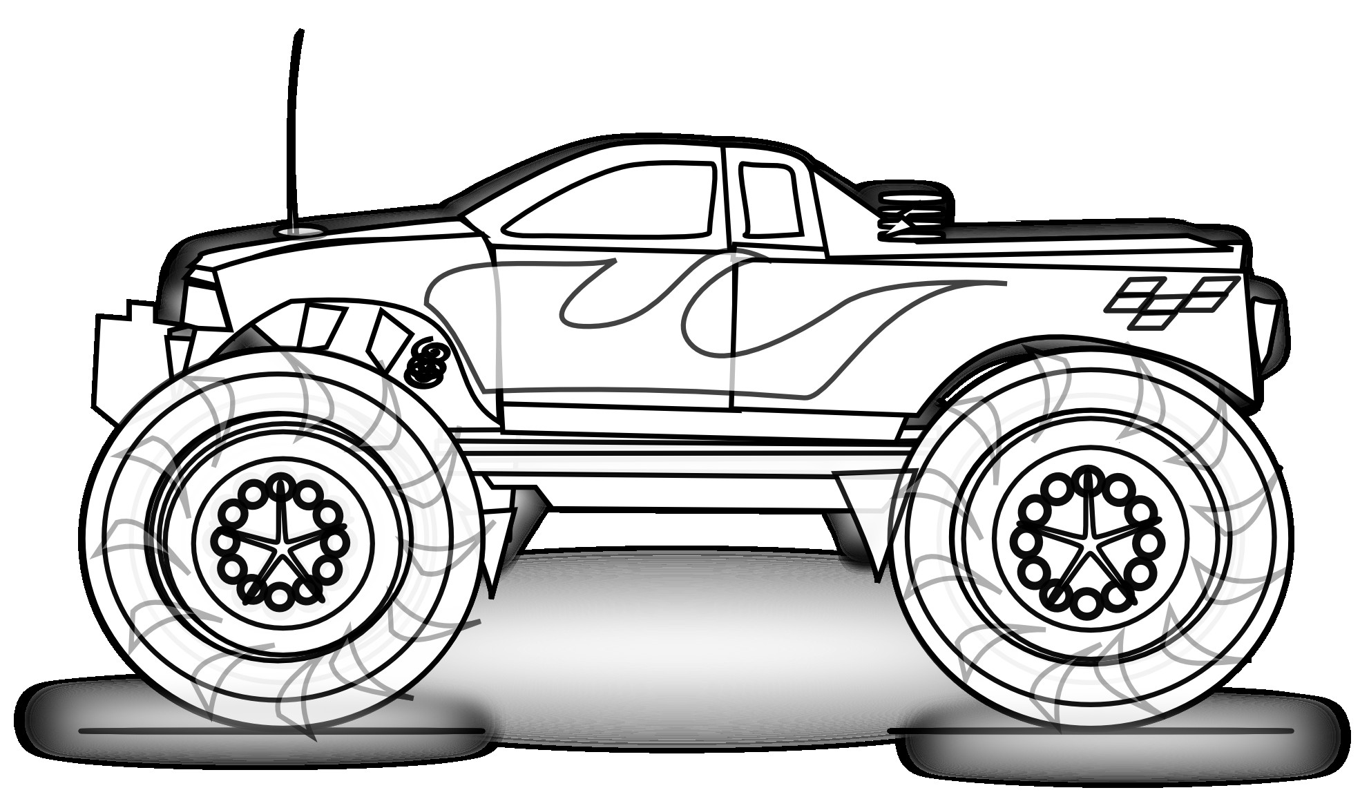 5 Images of Free Printable Truck Coloring Pages