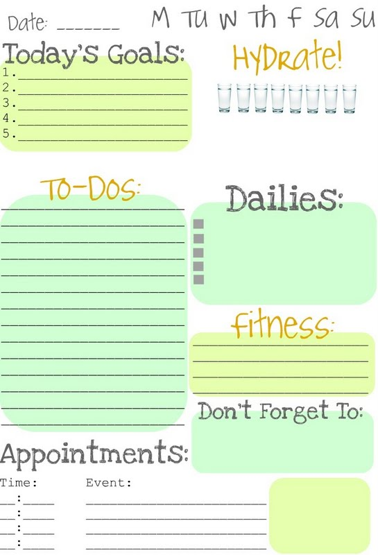 6 best images of printable weekly planner to do list