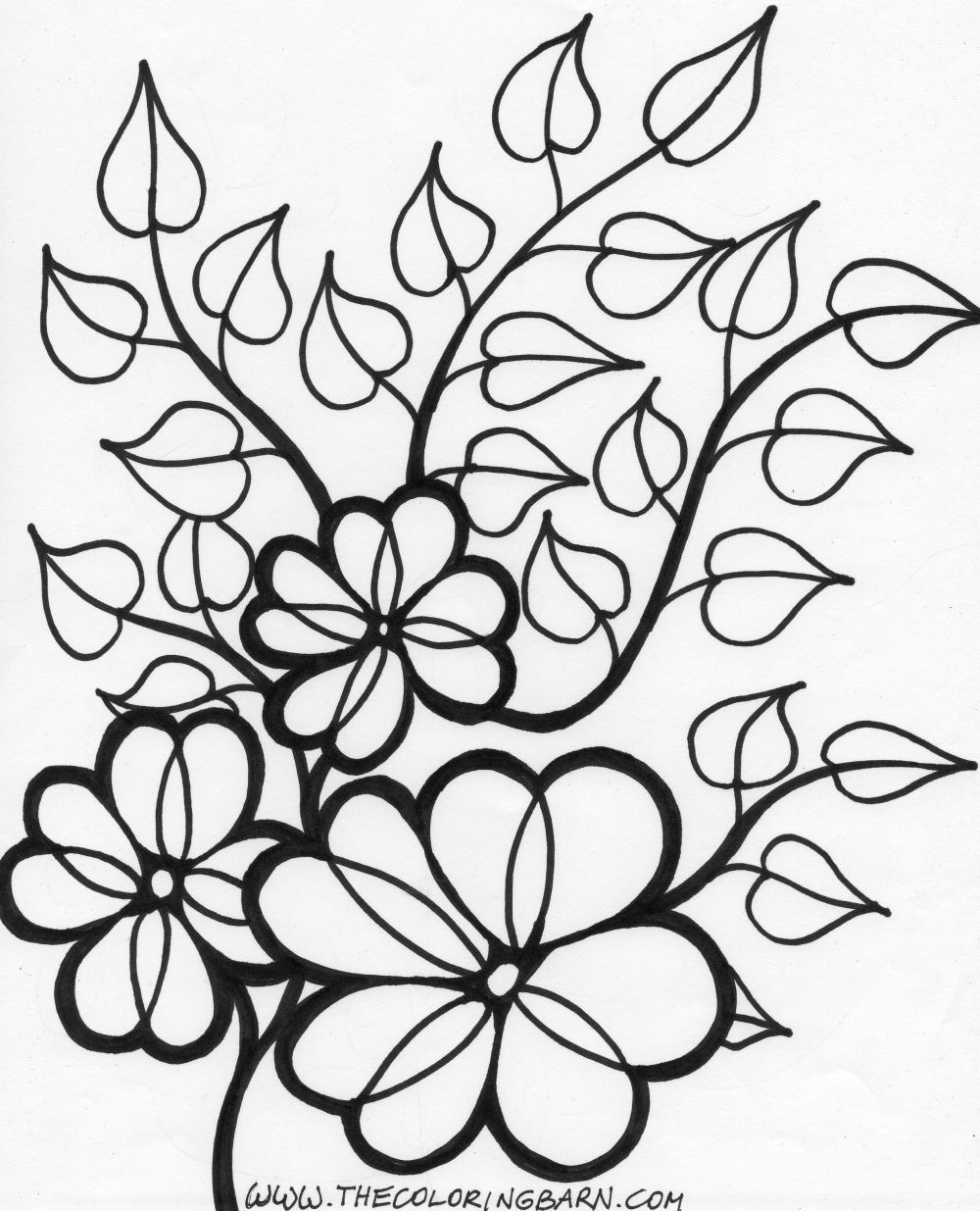 7 Images of Printable Flower Vines