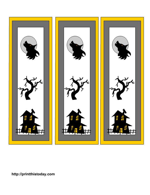 6 Images of Wolf Bookmarks Printable