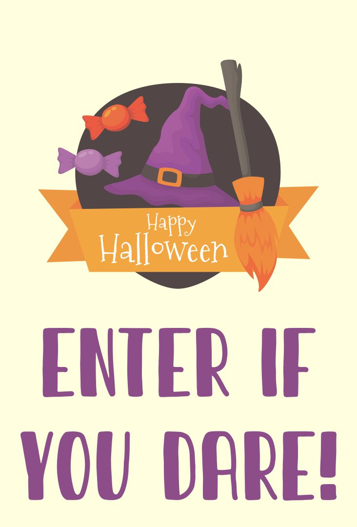 Printable Halloween Door Sign